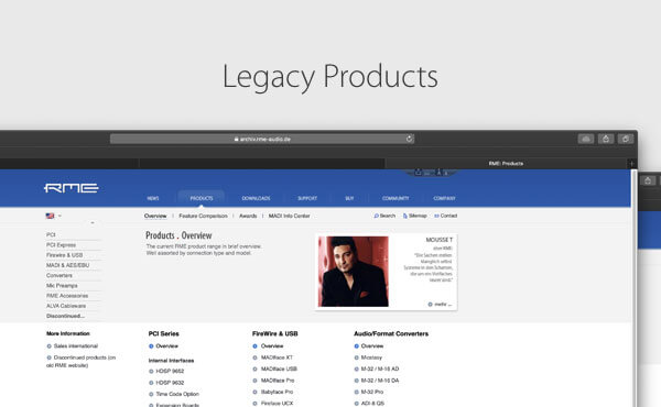 Legacy products Downloads