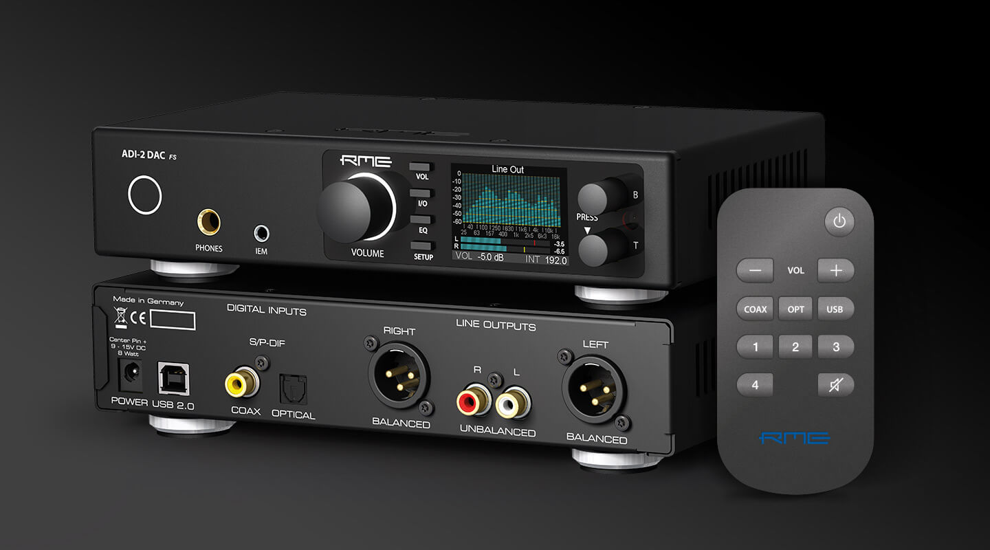 ADI-2 DAC first RME Audio Device with SteadyClock FS